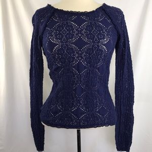 Free people sunny picker stretch lace top